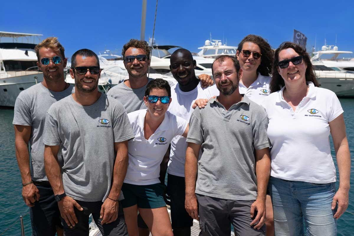 IRIS Yachtcharter Mallorca Team