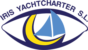 IRIS Yachtcharter Mallorca Logo mit Text